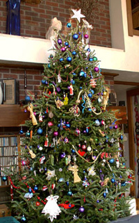Decorated Fraser Fir tree